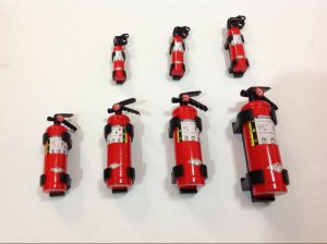 Scale Fire Extinguisher 7 Sizes