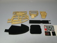 Scale Jet Ranger Cockpit Kit 30 Size