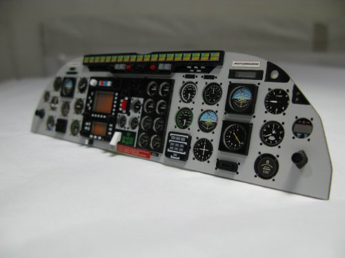 Scale Airwolf/Bell 222 Instrument Panel for 50/600 Size