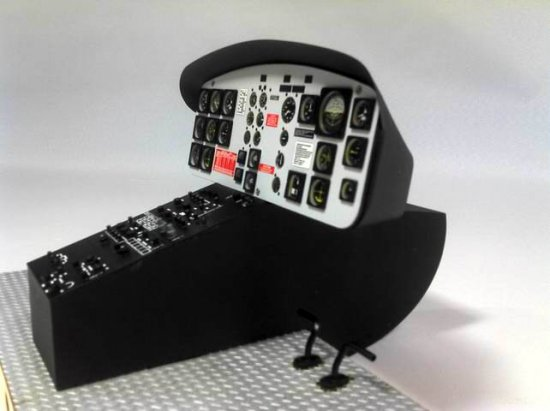 Scale UH-1B Cockpit Set 600 Size - Click Image to Close