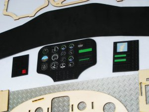Scale Huges-500E/D Cockpit for 50 Size
