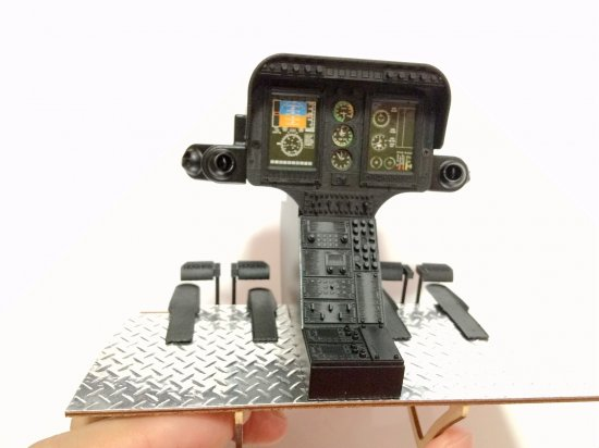 3D Printed Scale 450 Size Hughes-500 D/E Cockpit - Click Image to Close