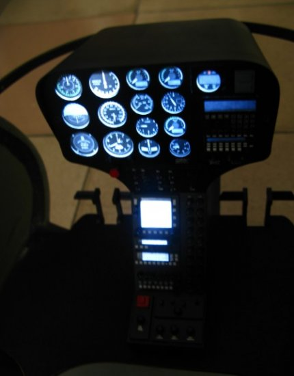 Scale Hughes-500D Cockpit for 60-90 Size - Click Image to Close
