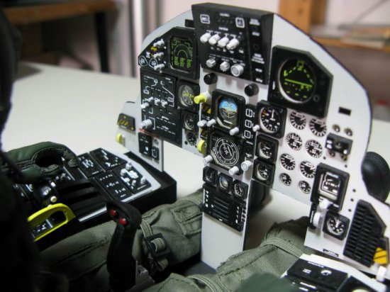 Scale Cockpit Panel Yellow Aircraft F-15 - Click Image to Close