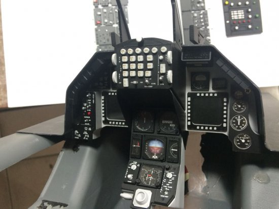 Scale Cockpit Panel Yellow Aircraft F-16 - Click Image to Close
