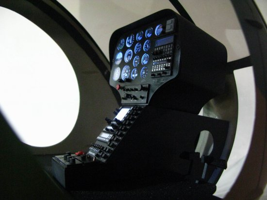 Scale Hughes-500E Cockpit for 50/600 Size - Click Image to Close