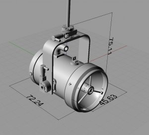 3D PrintedScale Search Light 1:4--1:8 Scale With Functions