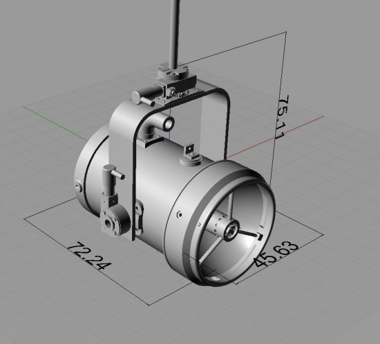 3D PrintedScale Search Light 1:4--1:8 Scale With Functions - Click Image to Close