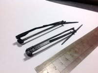 3D Printed Scale Airwolf/Bell222 60 Wipers L:124.9mm