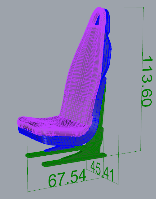 3D Printed Scale 1/10 Scale Seat