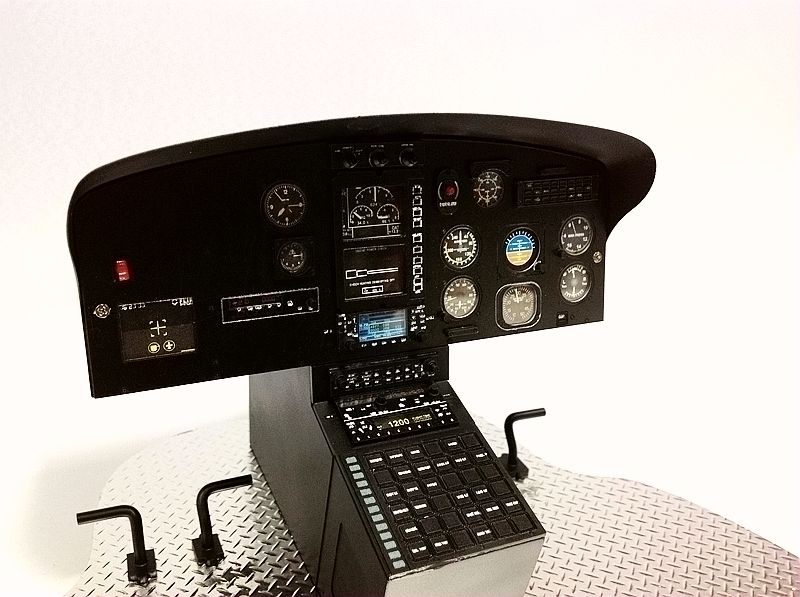 Scale Eurocopter AS350 700 Size Cockpit W/O LCD Screem