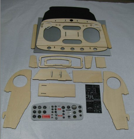 Scale UH-1 Cockpit Kit for 50 Size